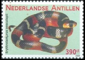 Reptilies Stamps from Netherlands Antilles